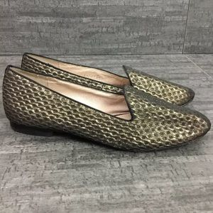 Vince Camuto metallic textured flats pointed toe